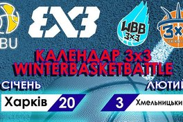 Уточнено календар Winter Basket Battle 3x3